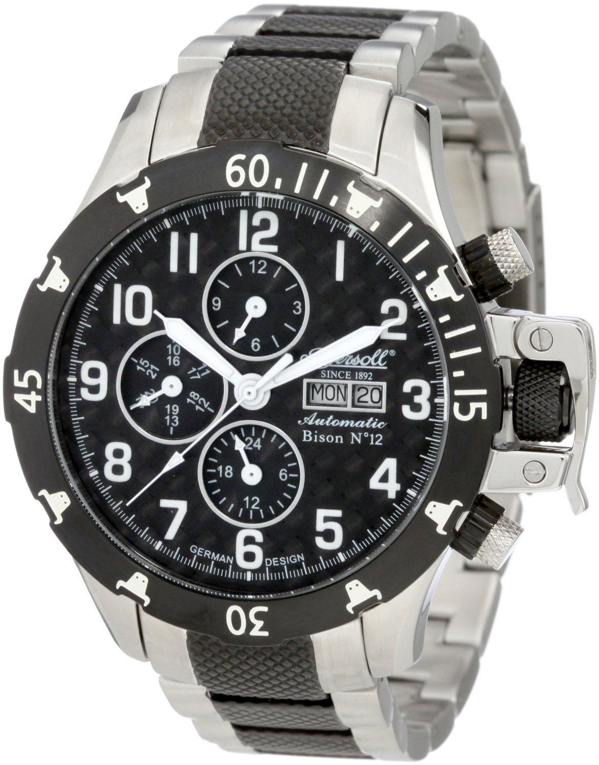 Ingersoll Men's IN2803BKM Automatic Bison Number 12 Watch, (watches,  bulova, mens, automatic, automatic watches, casual watch, dress watches,  marine star, ...