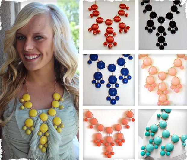 $24.99 Bubble Bib Necklace - Similar to J. Crew! Available in 8 Colors! at VeryJane.com