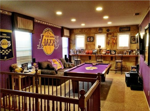 Lakers Memorabilia Room Mancave Nba Kobe Magic Sneakerhead