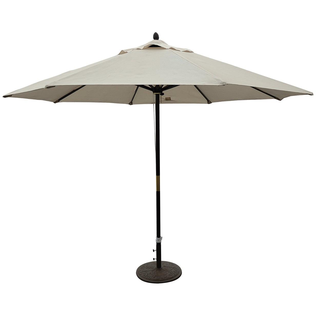 Tropishade 11 Ft Dark Wood Market Umbrella With Beige Olefin Cover As Is Item 11 Dark Wood Large Patio Umbrellas Backyard Patio Furniture Patio Umbrellas