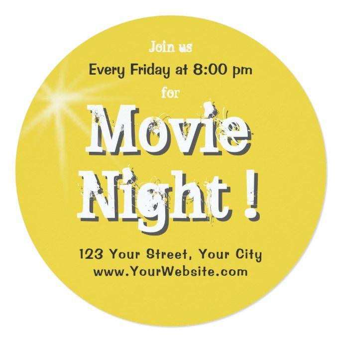 Movie Invitations | Zazzle