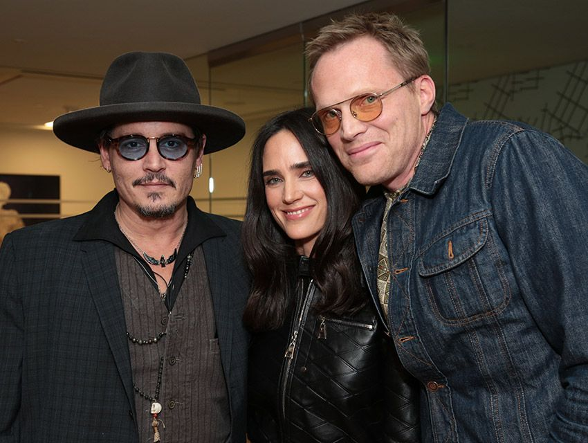 Party Shot Johnny Depp And Uta Host A Screening Of Paul Bettany S Shelter Paul Bettany Johnny Depp Jennifer Connelly Requiem