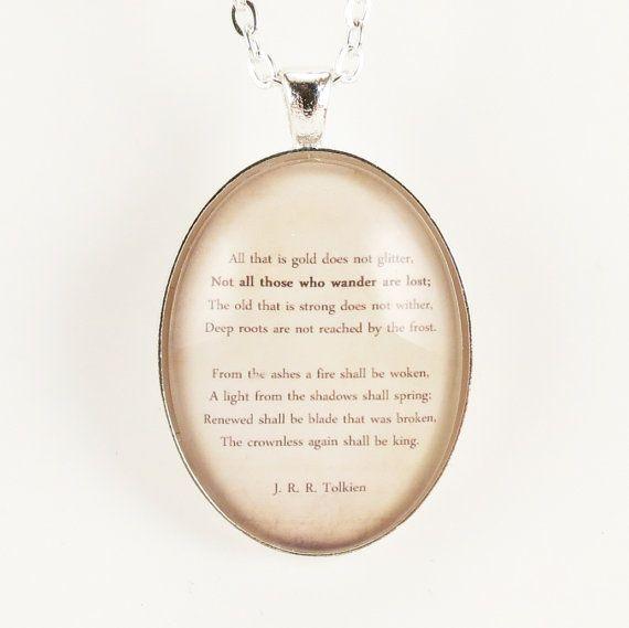 J R R Tolkien Poem Necklace Hobbit Pendant By Cellsdividing