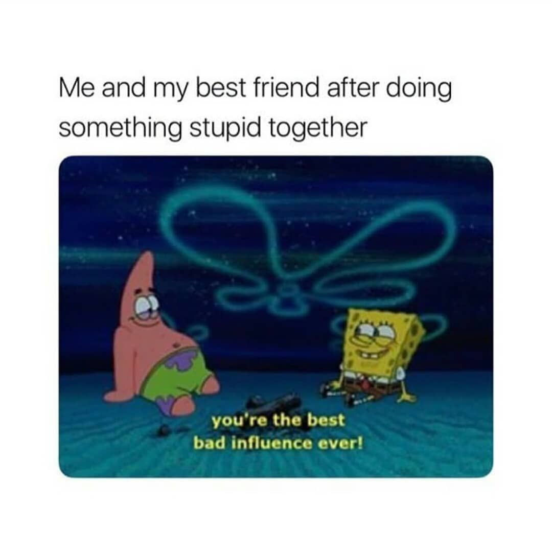 Clean Memes Daily On Instagram Yassss Shoutout To Y All Clean Memes Cleanmemes Funny Funnymemes Humo Bad Influence Friends Funny Spongebob Friends