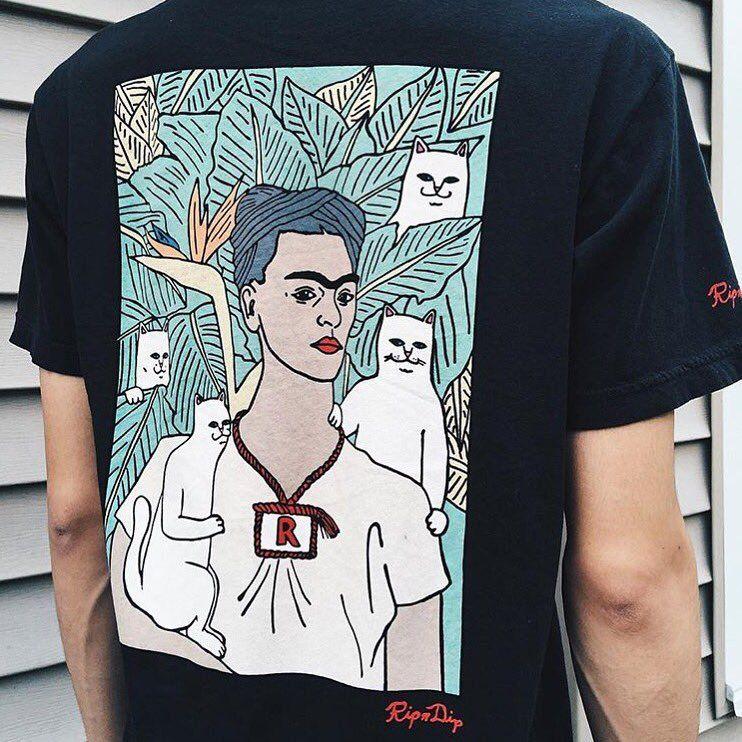 4f45deecda13 rip n dip frida kahlo shirt | Wardrobe | Rip n dip, Fashion, Mens tops