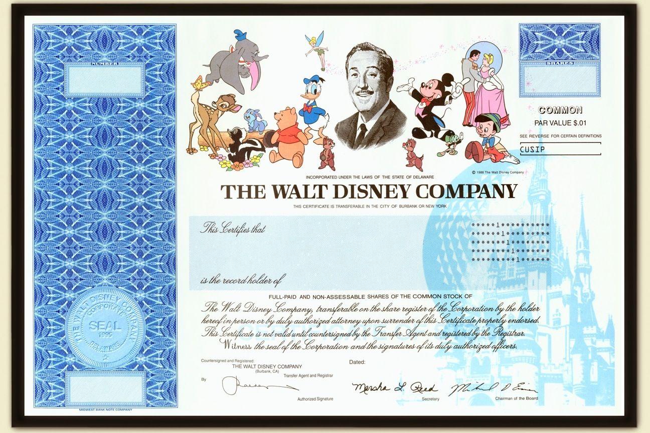 Disney Stock Walt Disney Company Walt Disney Disney