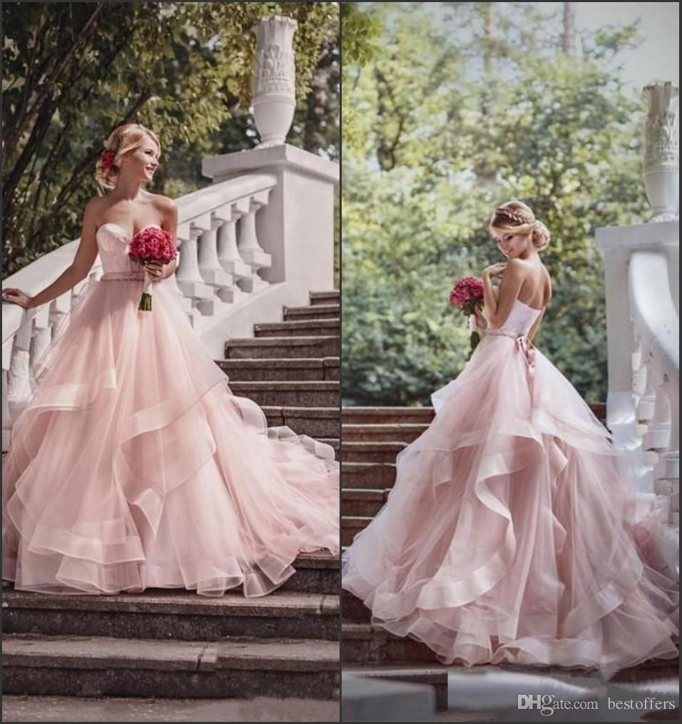 Country girl wedding dress  Blush Tulle Fabulous Wedding Dresses Ball Gowns  Sweetheart