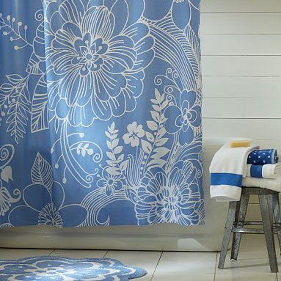 Elegant Shower Curtains | DESIGNER TROPICAL SHOWER CURTAINS ...