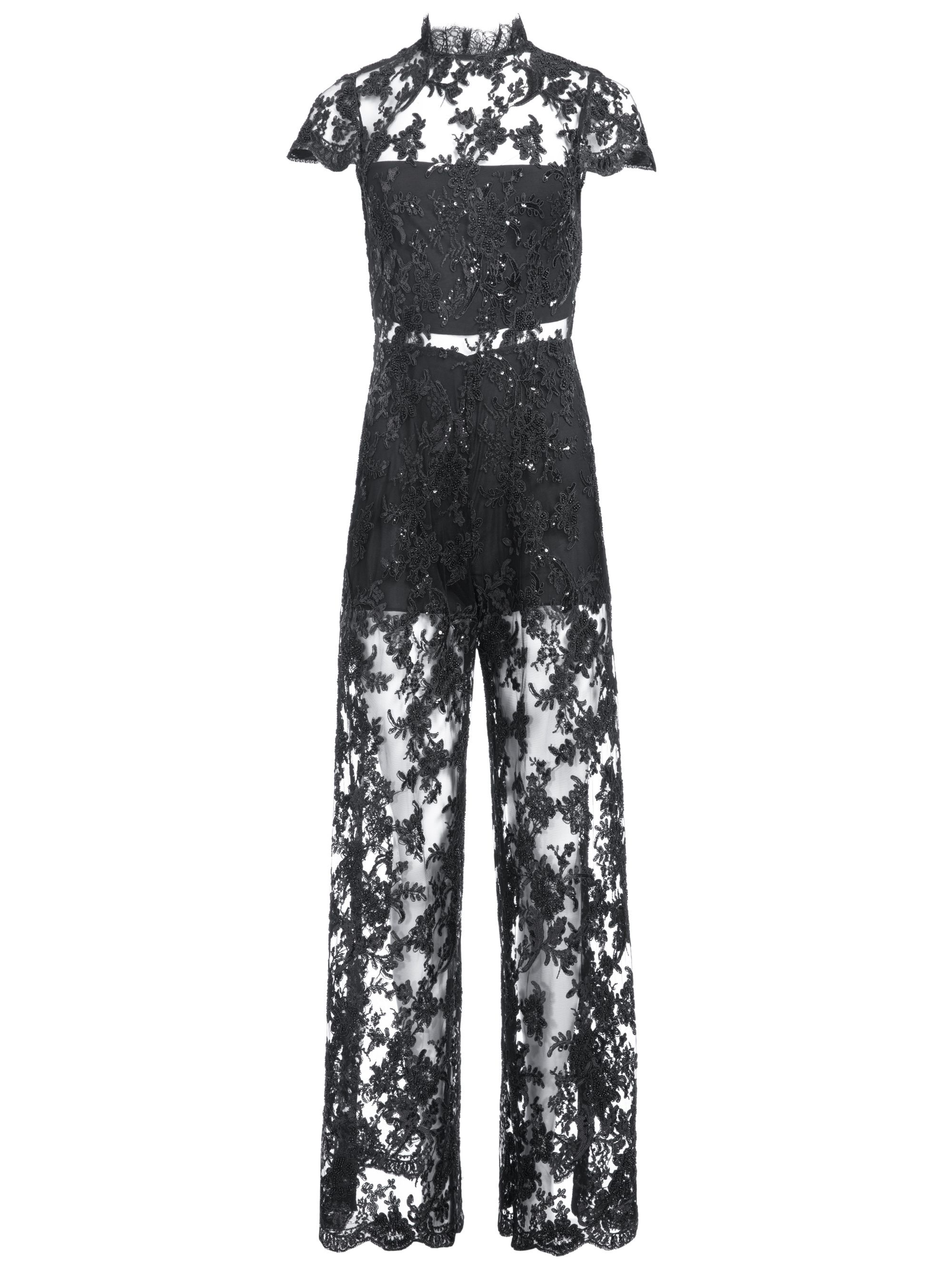 6cae94705b55 Alice + Olivia ALAINA BEADED MOCK NECK JUMPSUIT in 2019
