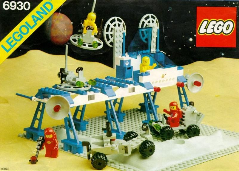 Old LEGO® Instructions | letsbuilditagain.com 1980s Space Station ...