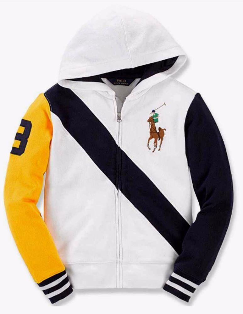 NWT Ralph Lauren Boys Color Block Big Pony Cotton Hoodie  #RalphLauren #Everyday