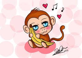 Image result for cute monkey drawing