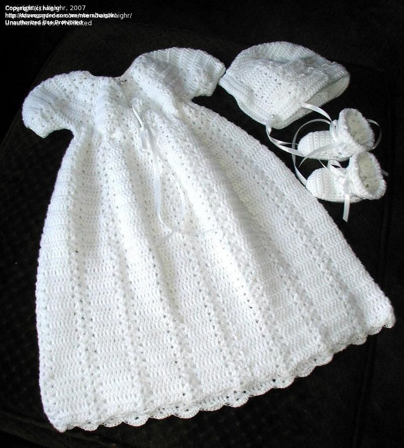 Free Crochet Christening Layette Patterns Needle Arts: haighr picture (Chri...