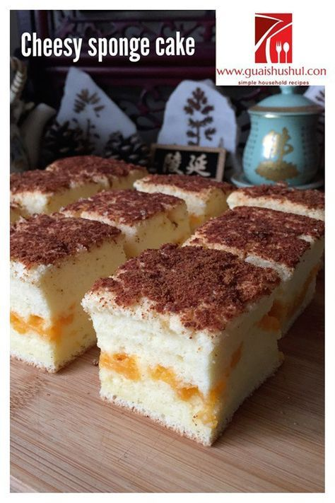 Cheesy Sponge Cake aka Taiwanese Gochabi Sponge Cake with