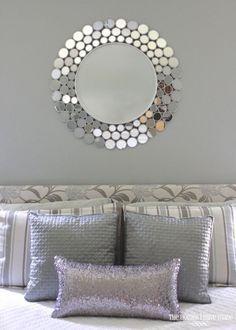 Idea De Decoracion En Recamara Tonos Grises Y Detalles Plata Silver Bedroom Glam Master Bedroom Trendy Bedroom