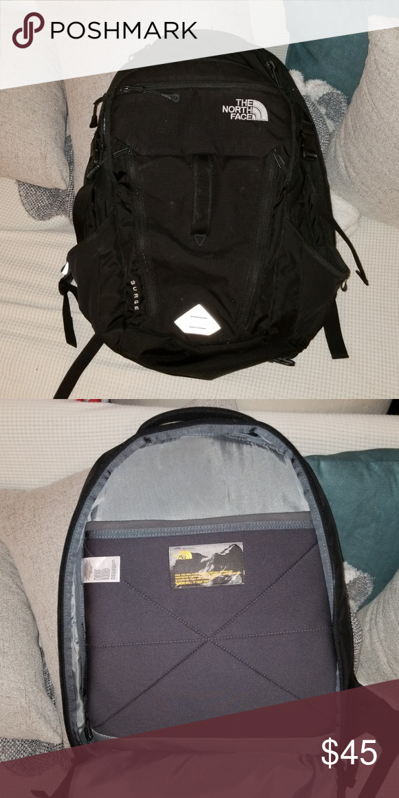 7fa9dbf30 The North Face Surge Mens backpack in Black Like new condition Used ...