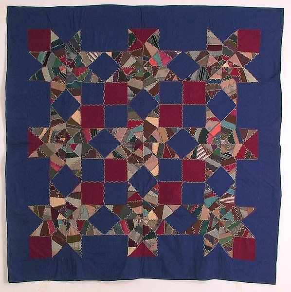 Crazy Stars Mennonite Quilt, Ca 1890 This pattern is also known as ... : crazy star quilt pattern - Adamdwight.com