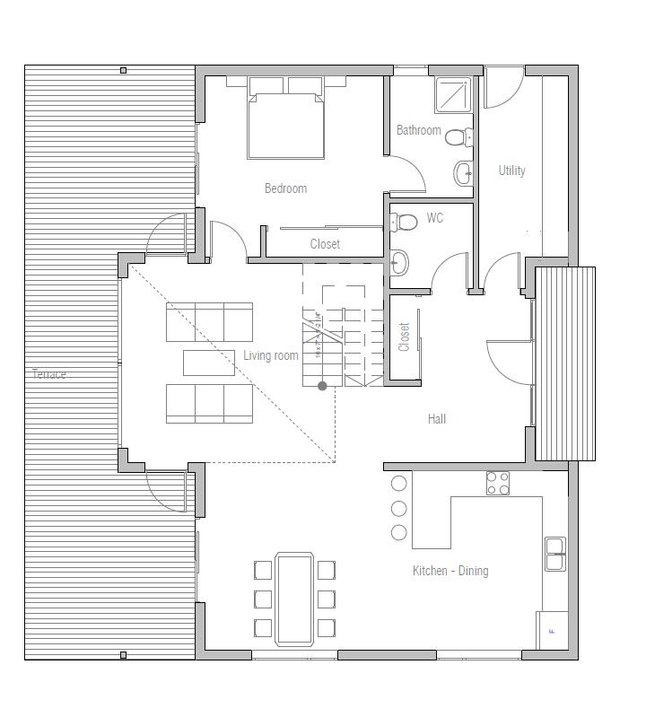 Hauspläne modern  house design small-house-plan-ch16 10 | Hauspläne | Pinterest ...
