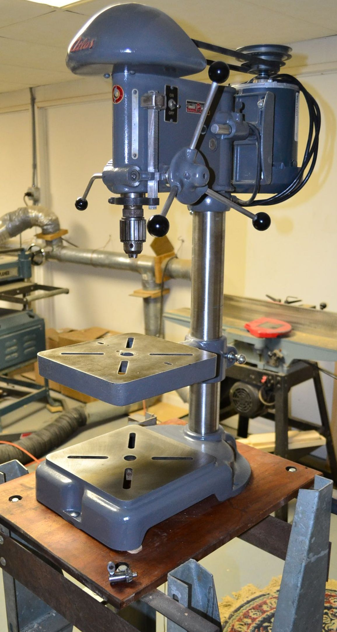Atlas drill press | Woodworking | Pinterest | Drill press, Antique tools and Machine tools