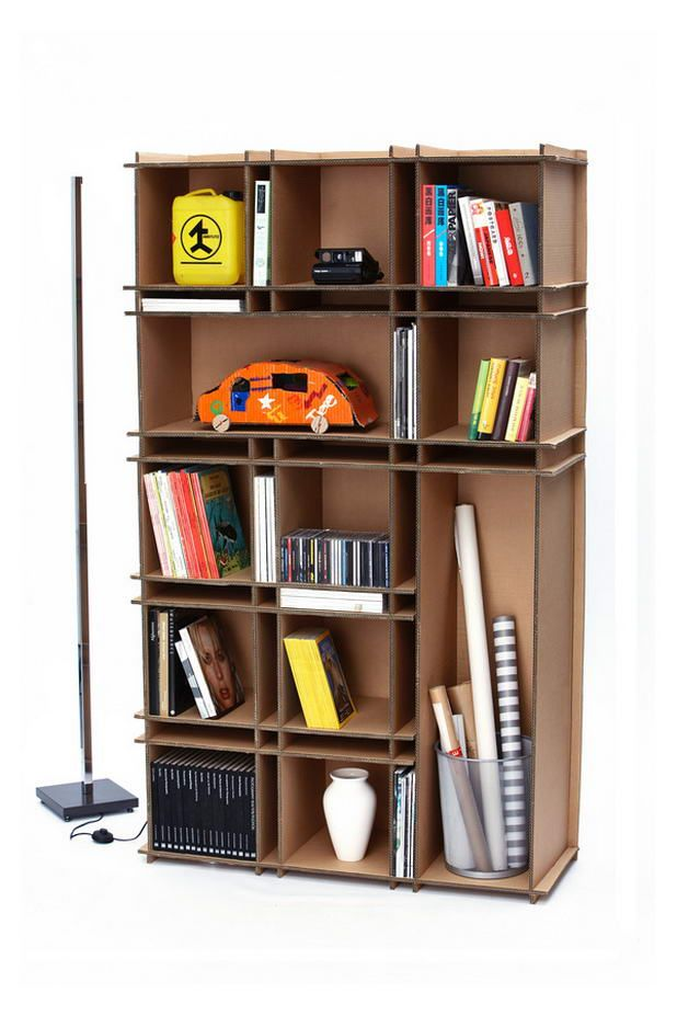 cardboard bookshelf store iron folding with container modern shelves bookcase stackable