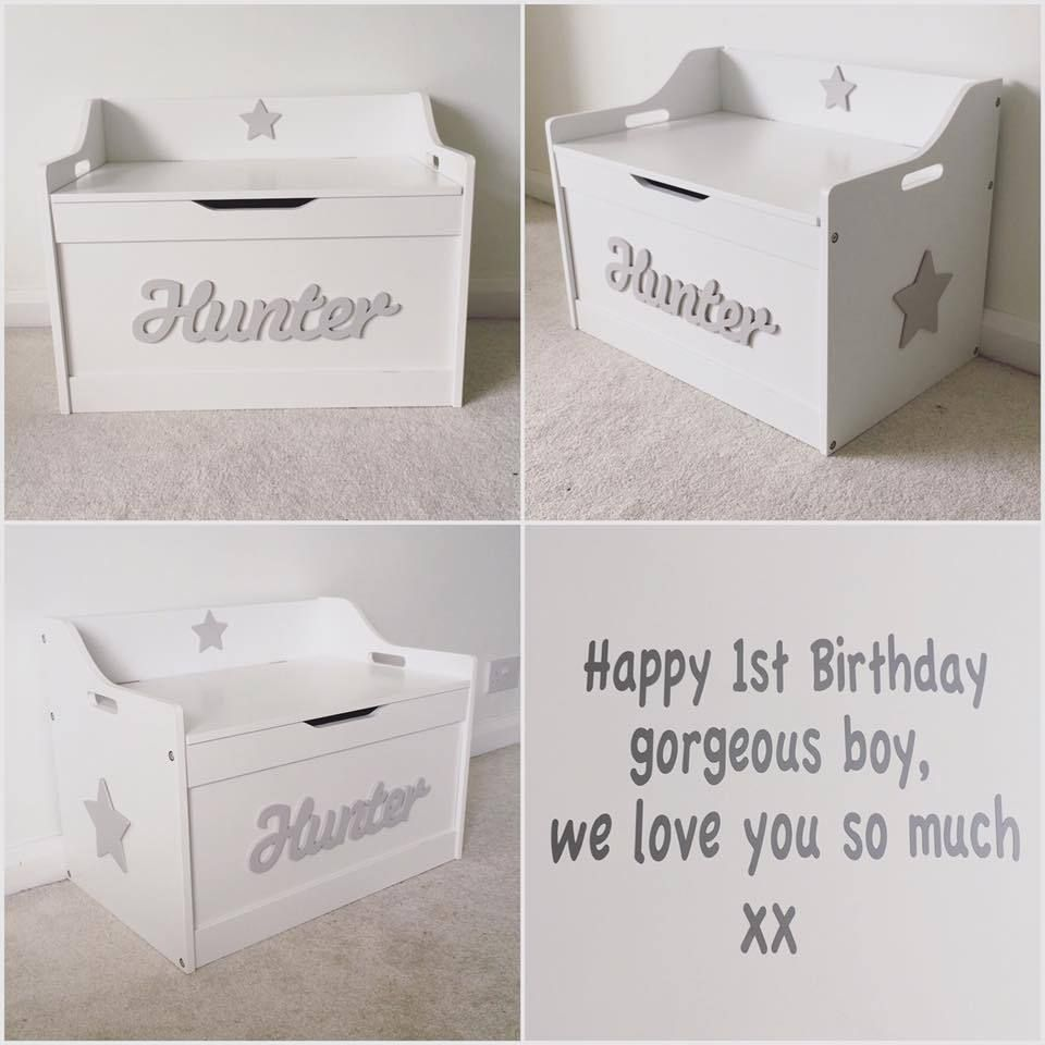 Personalised In Lid Girls Boys Wooden Children Toy Box Storage Box Chest Nursery With Images Personalised Toy Box Toy Storage Boxes Girls Toy Box