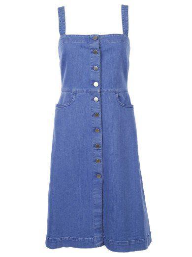 STELLA MCCARTNEY Stella Mccartney Linda Denim Dress. #stellamccartney #cloth #dresses
