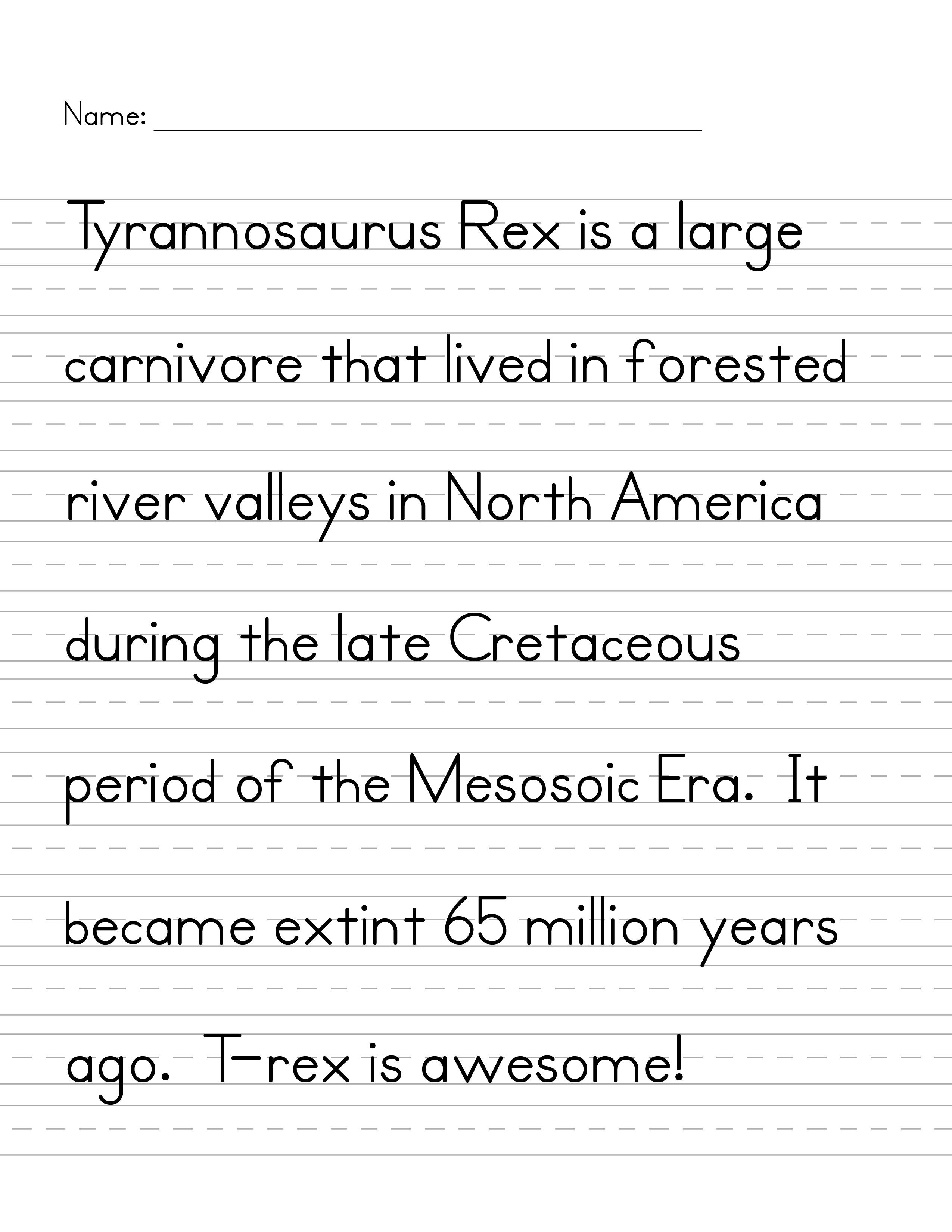 Worksheet Print Handwriting Worksheets handwriting t rex jpg practice pinterest