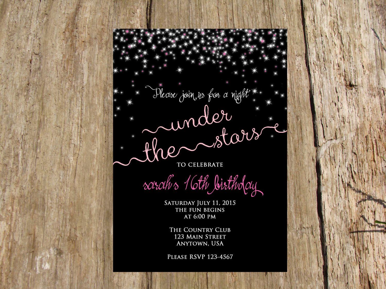 Night Under the Stars Sweet Sixteen Birthday, Bridal