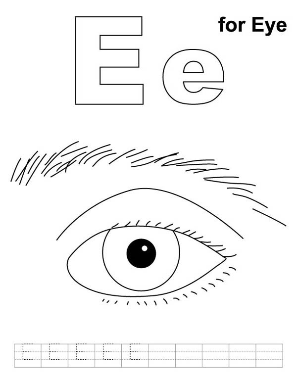E Is For Eyes Coloring Page Coloring Sun In 2020 Coloring Pages For Kids Coloring Pages Preschool Coloring Pages
