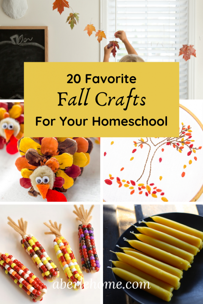 Find The Perfect Fall Crafts For Your Homeschool This Year With Roundup Of 20 Pinterest Favorites Kids Fun