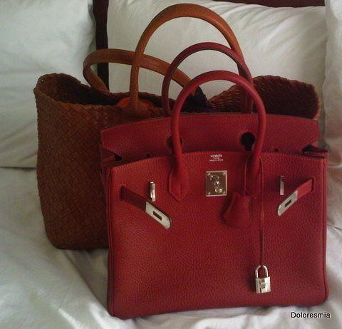 HERMES RED BIRKIN BAG  0fe3edfc51