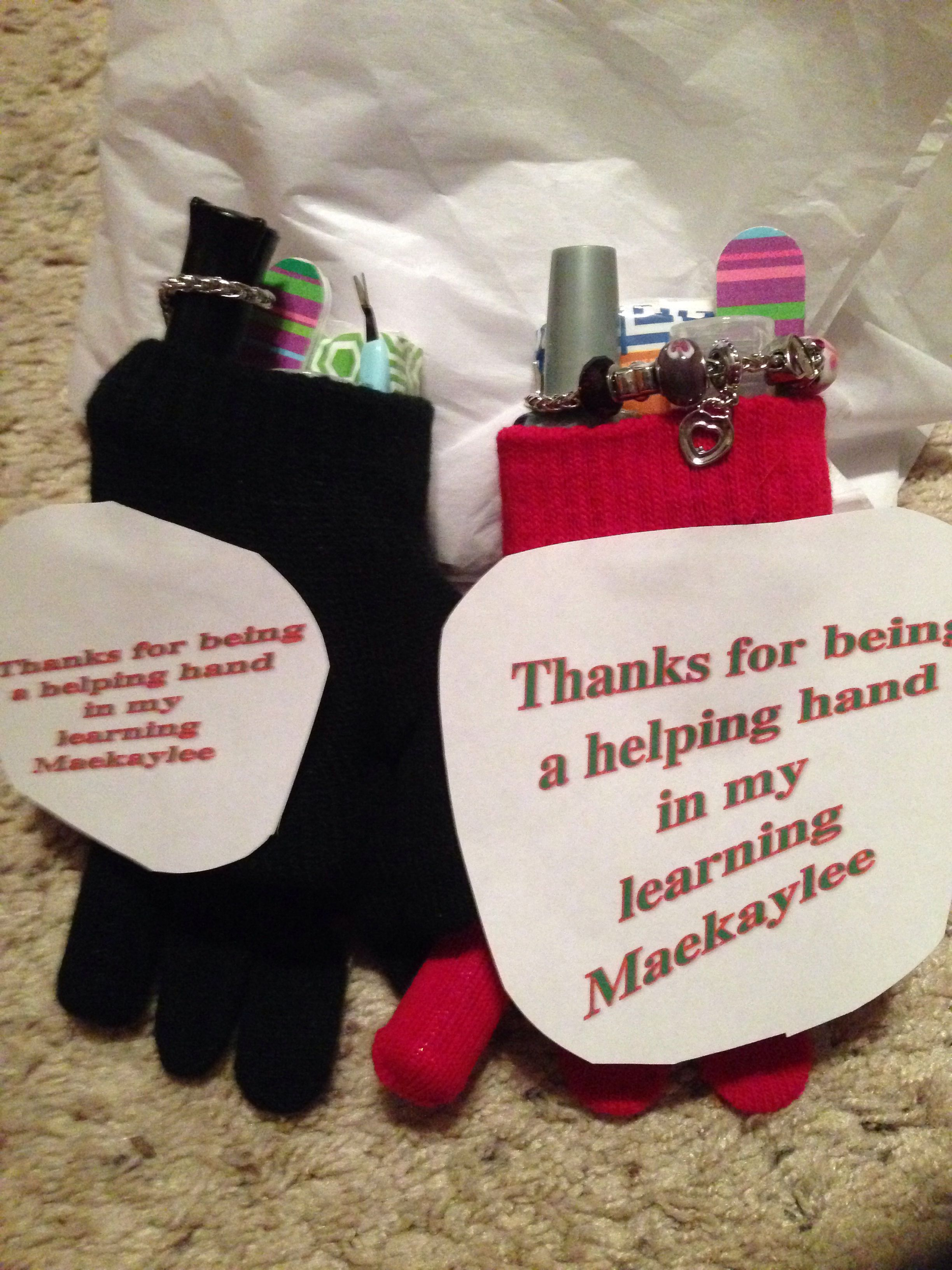 Teachers Gifts Gloves Manicure Kit Polish Hand Sanitizer