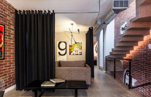 Dividir os ambientes com cortinas cerca con google - Dividir ambientes ...