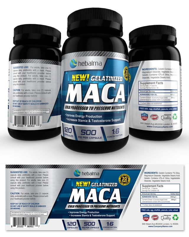 Maca Root Supplement Label Template    wwwdlayouts - ingredient label template