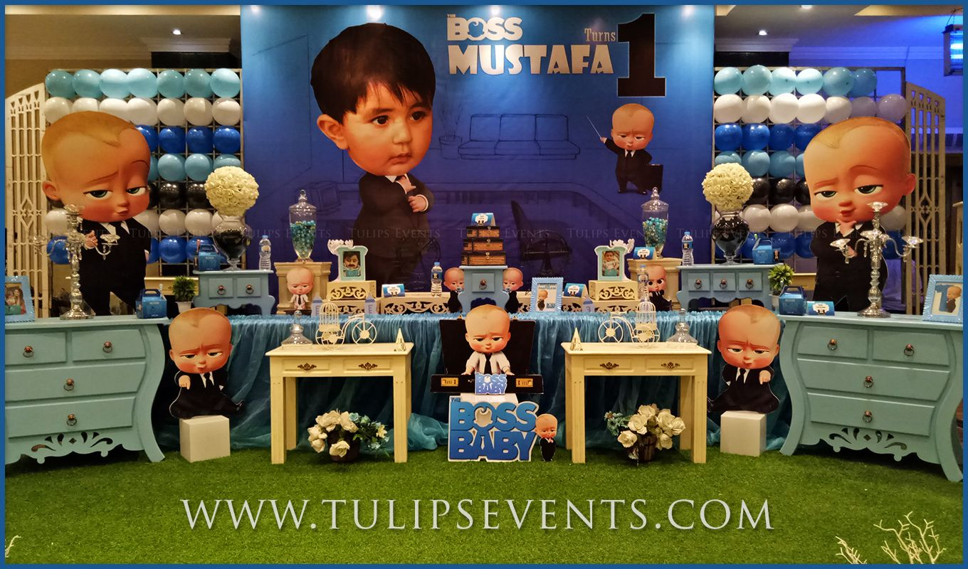 Boss Baby Theme Party Decoration Ideas In Lahore Pakistan Baby