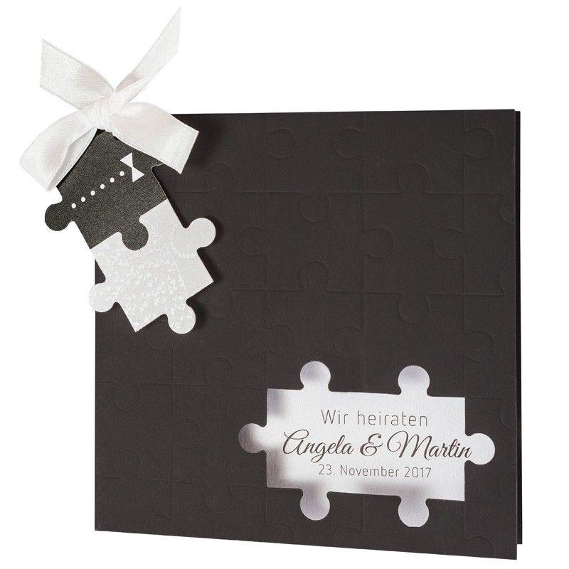 hochzeitseinladung puzzle 725073 hochzeitseinladung. Black Bedroom Furniture Sets. Home Design Ideas