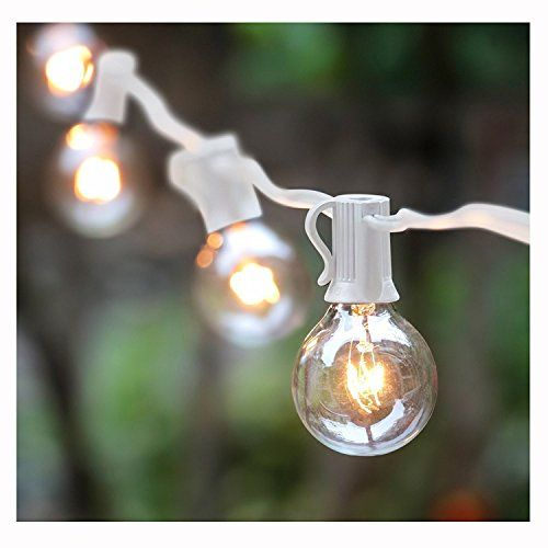 G40 string lights with 25 globe bulbsul listed for indooroutdoor g40 string lights with 25 globe bulbsul listed for indooroutdoor commercial decor wedding lights patio lights mozeypictures Images