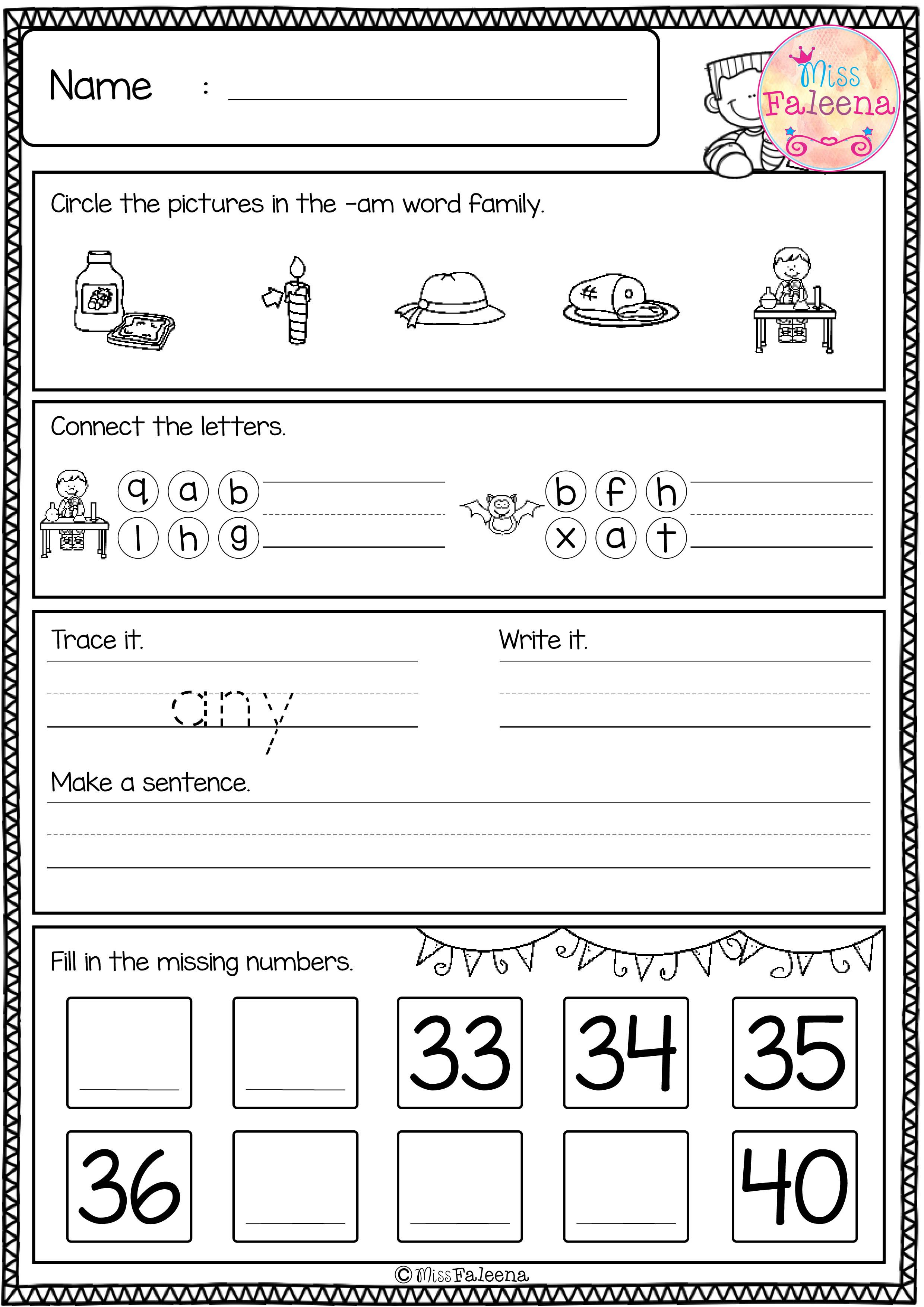 Free First Grade Morning Work Includes 20 Pages Of Morning Work Activities For Literacy And Math These Pages Are First Grade Teacher Help Free Math Resources