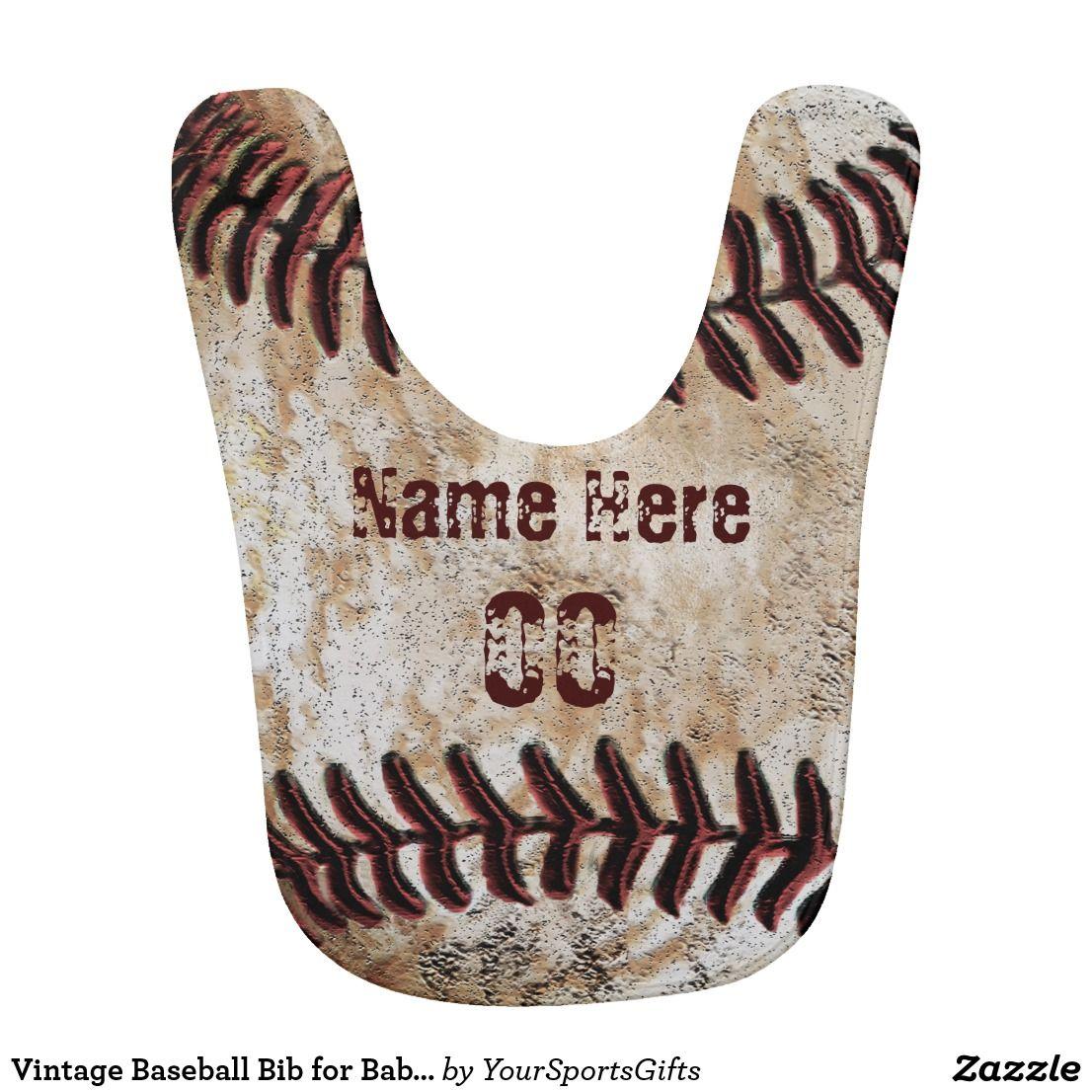 Vintage baseball bib for baby boy personalized baseball vintage baseball bib for baby boy personalized negle Images
