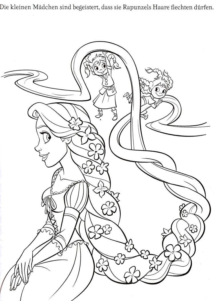 Rapunzel Hair Coloring Pages 디즈니 캐릭터, 라푼젤, 디즈니