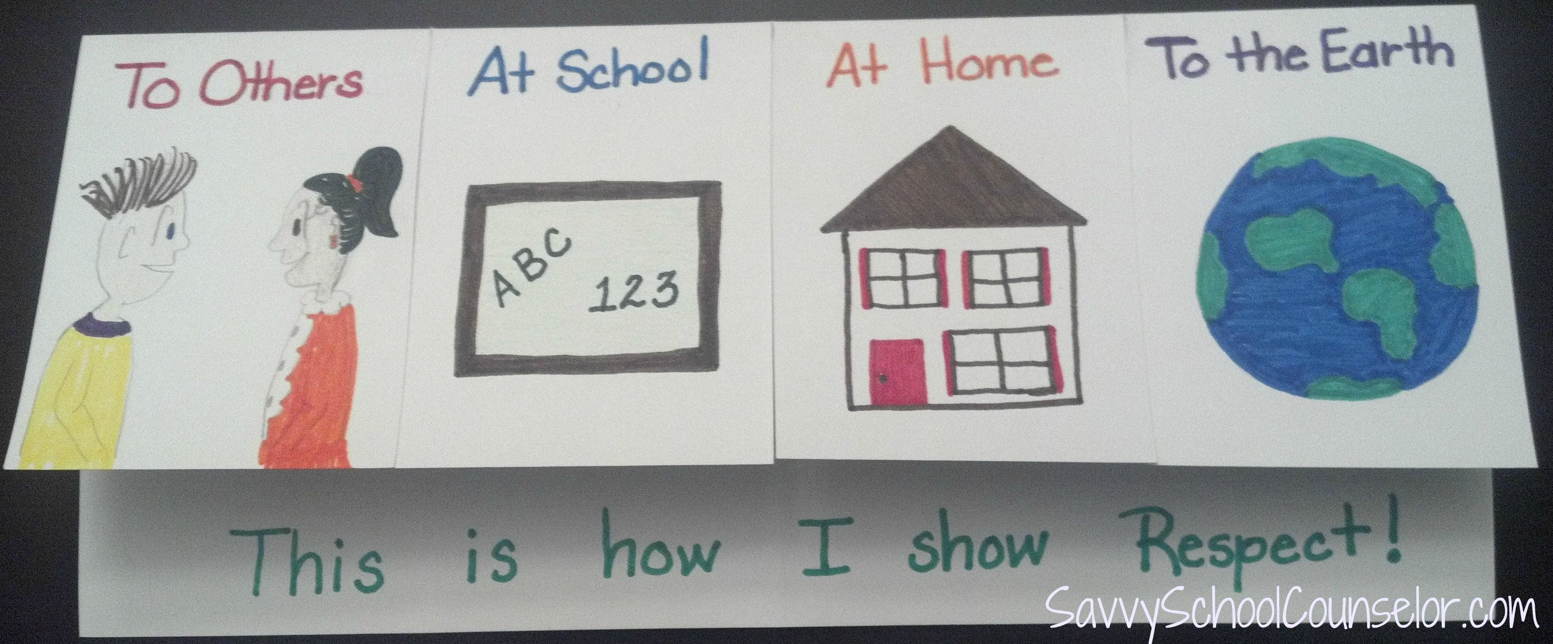 Respect Foldable 4 Flaps Could Be Used To Show Kindness How You Show Kindness To Others In
