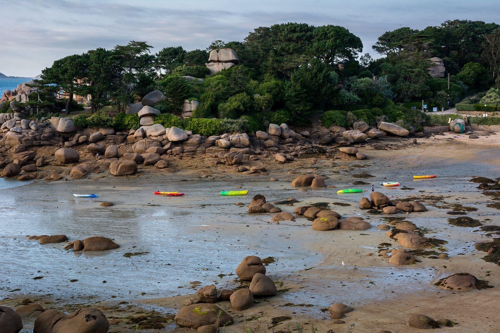 plage de saint-guirec à ploumanac'h côtes d'armor Bretagne