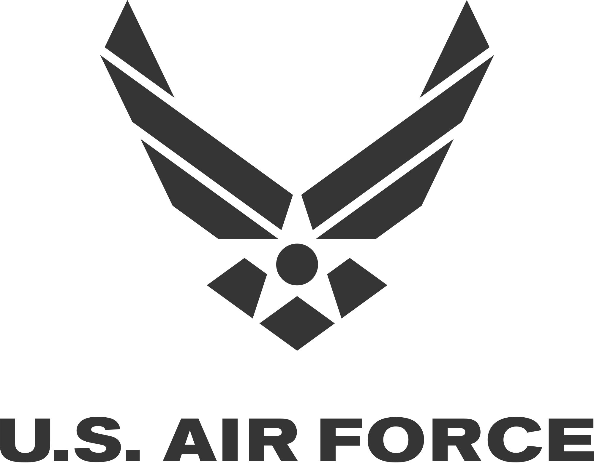Air Force Svg Pdf Png Studio3 File By Lmtembroiderydesigns Air Force Symbol Air Force Tattoo Air Force Mom
