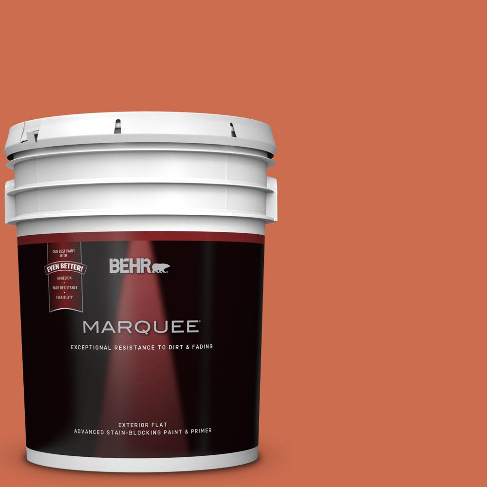 Behr Marquee 5 Gal M180 6 Tiki Torch Flat Exterior Paint And Primer In One 445305 Behr Marquee Behr Marquee Paint Exterior Paint
