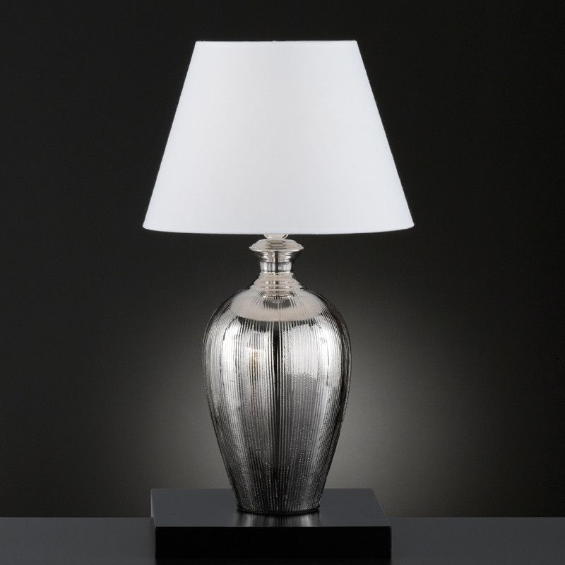 Honsel Belly Table Lamp Silver White 59234 Table Lamp Lamp White Lamp Shade