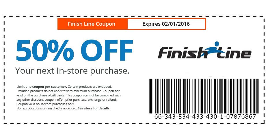 Get Your Deal 1 Per Person Finish Line Coupons Get Fit