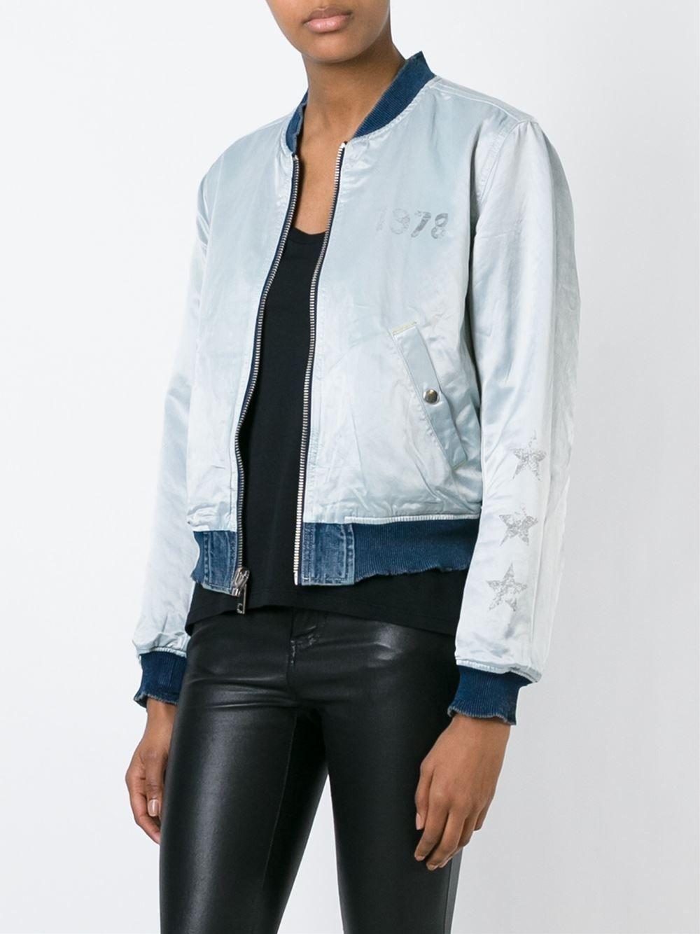 Diesel Reversible Bomber Jacket Likus Concept Store Farfetch Com Bomber Jacket Jackets Jackets For Women [ 1334 x 1000 Pixel ]