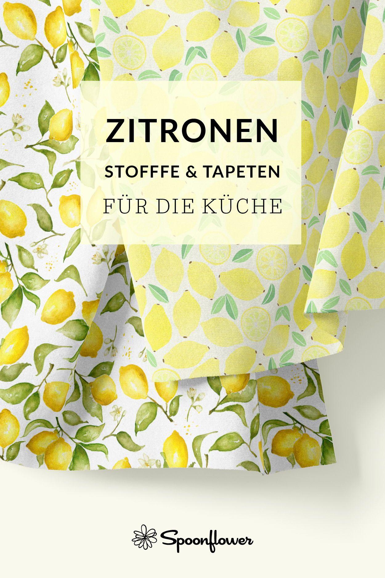 Zitronen Stoffe Und Tapeten Spoonflower In 2020 Fabric Web Design Tips Wallpaper
