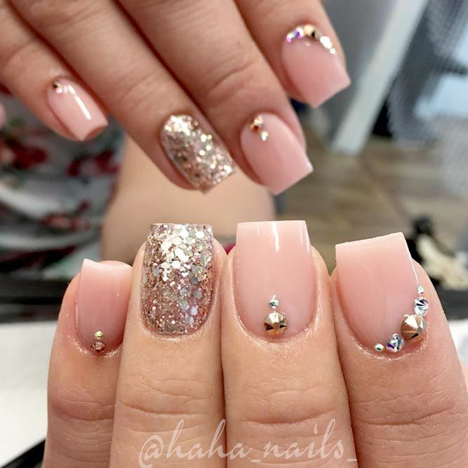 Try Cute Nail Designs For Short Nails Naildesignsjournal Com Short Square Acrylic Nails Square Acrylic Nails Nails Design With Rhinestones