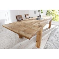 Table A Manger Extensible 200 300 Cm En Bois Massif Table A